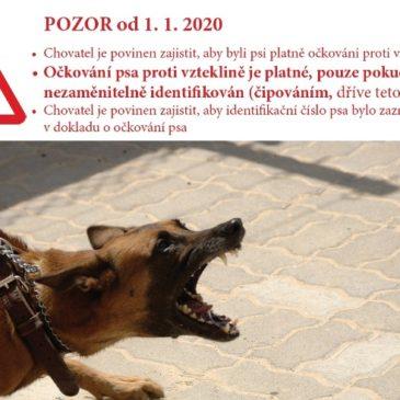 Od 1.1.2020 – povinné čipování psů